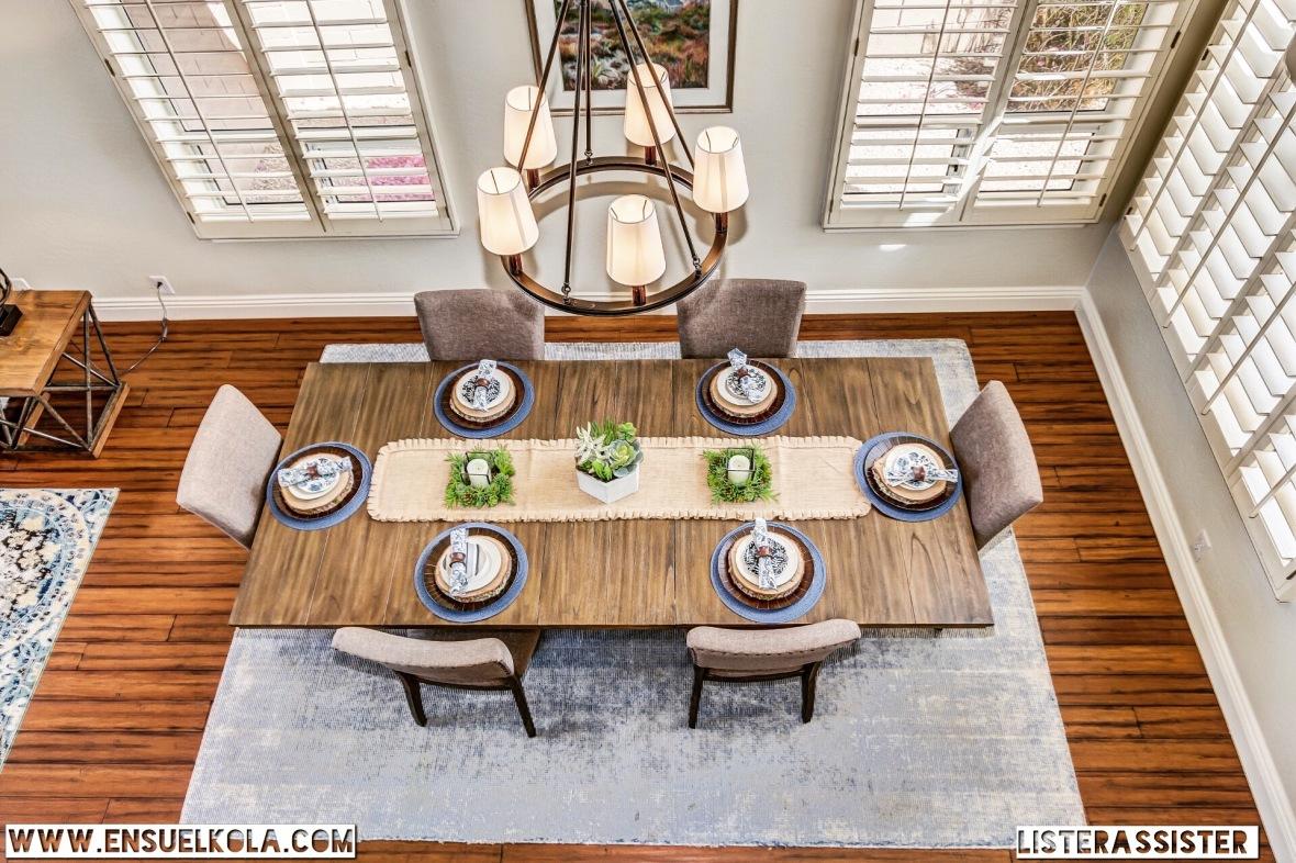 Unique dining space.